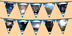Light and Dark Photo Display Bunting