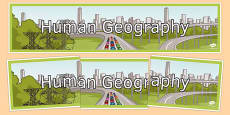 Human Geography Display Banner