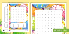 * NEW * Easter Word Search