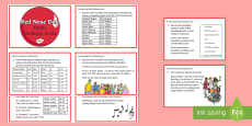 * NEW * KS2 Red Nose Day Maths Challenge Cards