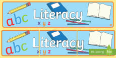 EYFS Learning Areas Literacy Display Banner