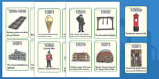 Victorians Timeline Flash Cards