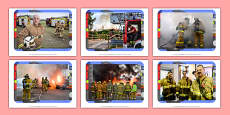 Firefighters Display Photos