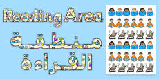 Reading Area Display Lettering Arabic Translation