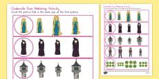 Rapunzel Size Matching Worksheet