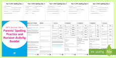 * NEW * SATs Survival: Year 6 Parents' Spelling Practice and Revision  Activity Booklet