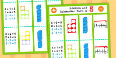 Addition and Subtraction Facts to 5 Display Poster