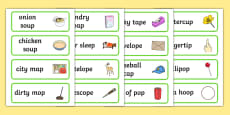 Three Syllable Final 'P' Word Cards