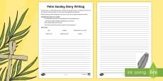 KS2 Palm Sunday Character Story Writing Activity Sheet