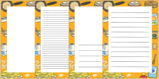 Pancake Day Decorative Page Border