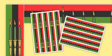 Kwanzaa Display Borders