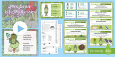 * NEW * Mrs Gren Life Processes Resource Pack