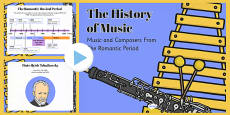 The History of Music: The Romantic Period and Composers PowerPoint