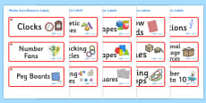 Ruby Red Themed Editable Maths Area Resource Labels