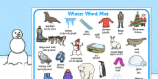Winter Word Mat EAL Romanian Translation