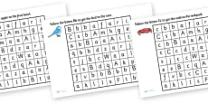 Letter Maze Activity Sheet