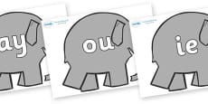 Phase 5 Phonemes on Elephants to Support Teaching on Elmer