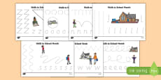 Walk to School Month Pencil Control Activity