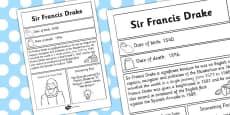 Sir Francis Drake Significant Individual Fact Sheet