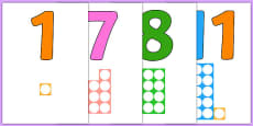 Numbers With Number Shapes 0-20 Display
