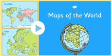 KS1 UK Europe and World Map Presentation