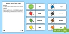 * NEW * Different Colours Card Game - Spanish
