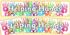 Helping Hands Display Banner