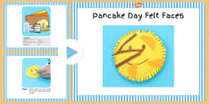 Pancake Day Felt Faces Craft Instructions PowerPoint