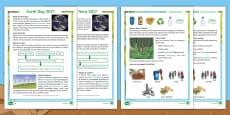 Earth Day Differentiated Go Respond Activity Sheets English/Portuguese