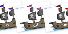 Foundation Stage 2 Keywords on Pirate Ships