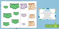 * NEW * Big, Bigger, Biggest Pants Busy Bag Prompt Card and Resource Pack