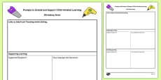 Workshop Area Adult Support Prompt Sheet Template