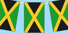 Jamaica Flag Display Bunting