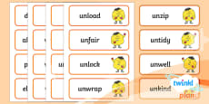 PlanIt English Additional Resources Year 1 Term 3B Spelling Word Cards