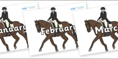 Months of the Year on Equestrian (Horses)
