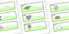 Crocodile Themed Editable Drawer-Peg-Name Labels