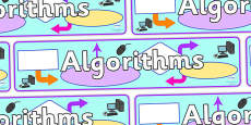 Algorithms Display Banner