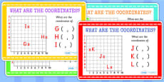 What Are the Coordinates Maths Challenge Cards