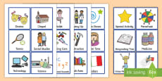 Additional Visual Timetable Cards