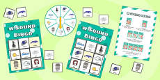w Sound Bingo Game with Spinner