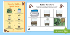 * NEW * How to Build A Worm Farm Sequencing Activity