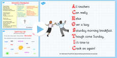 Recognise Some Different Forms of Poetry Acrostics Teaching PowerPoint