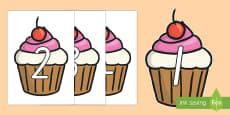 0-100 on Cupcakes Display Numbers