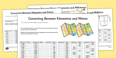 Converting Between Units of Metric Measures Activity Sheet Pack