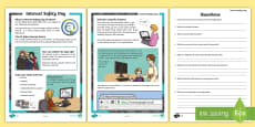 * NEW * KS2 Internet Safety Day Differentiated Reading Comprehension Activity