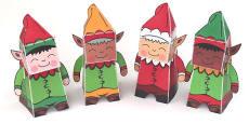 Christmas Paper Model Elfs