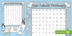 Polar Animals Wordsearch