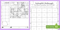 Das Kleine Einmaleins Faschingspuzzle (7er, 8er, 9er) Aktivität