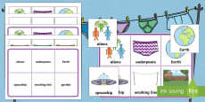 Matching Cards and Board to Support Teaching on Aliens Love Underpants