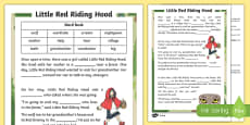 Little Red Riding Hood Traditional Tale Cloze Procedure Differentiated Activity Sheet Pack